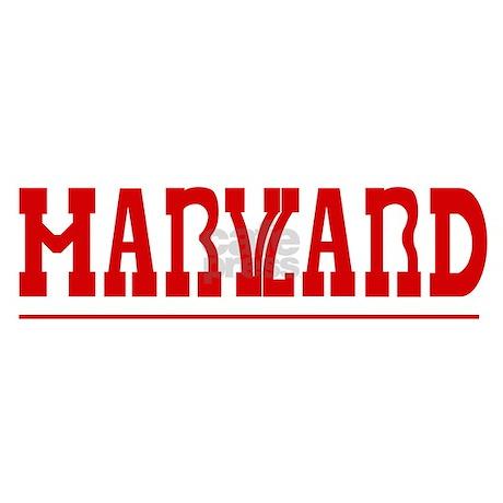 Maryland-Harvard License Plate Frame by pnkdesigns
