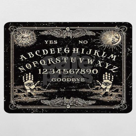 Vintage black talking Ouija board pillow case