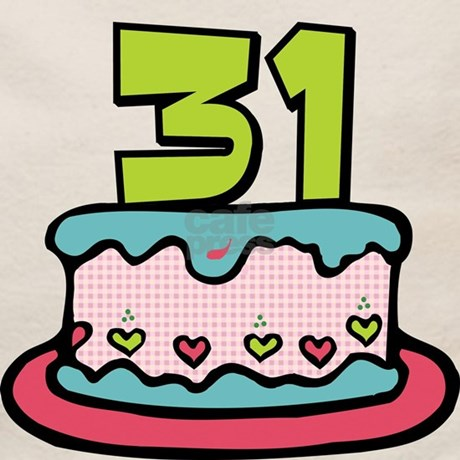 31 Year Old Birthday Cake Tote Bag Front Design Back