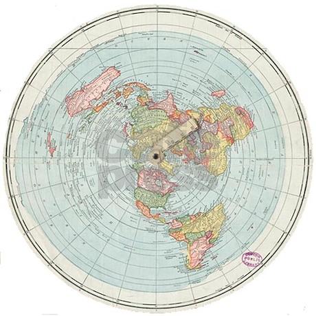 Flat Earth Gleason S Map 1892 Flask By Flattyflair