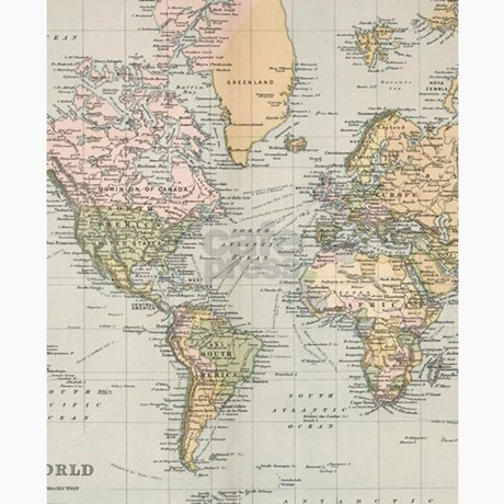 1892 Map Of The World.Vintage Map Of The World 1892 Flip Flops By Admin Cp17960464