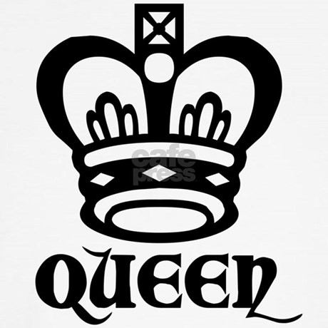 Queen Symbol 2 Throw Pillow By Chesstshirts