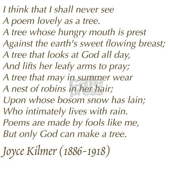 Joyce Kilmer Tree Poem