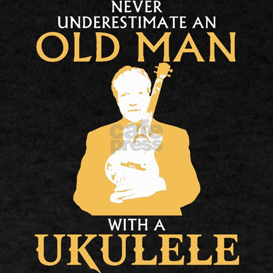 Old man with a ukulele