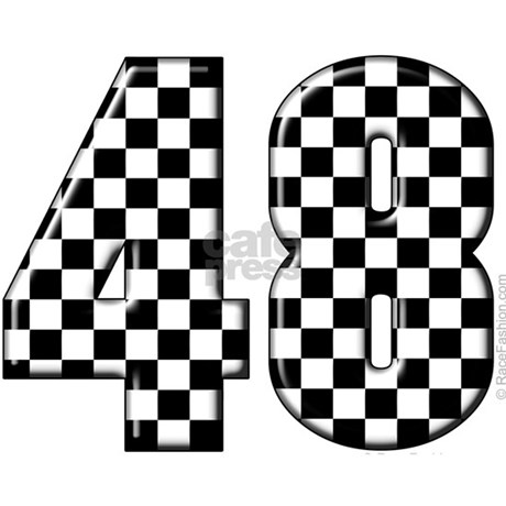 racing number 48 ornament round by racefashion