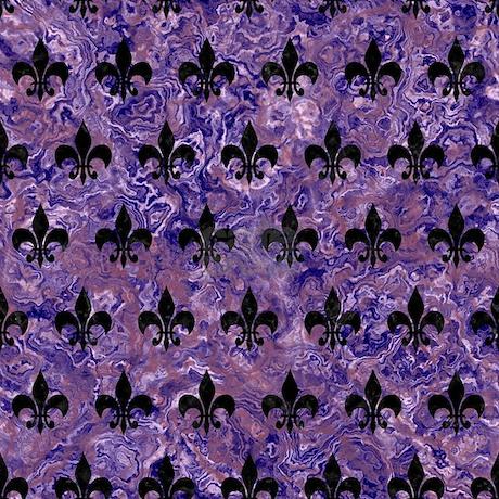 Royal1 Black Marble Purple Tile Coaster