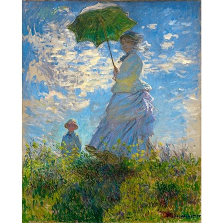 Woman With A Parasol By Claude Monet 5 X7 Area Rug