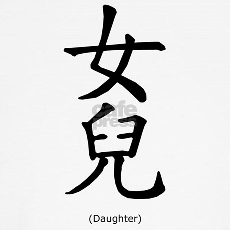 Daughter Chinese Characters Family Dog T Shirt By Mozartini