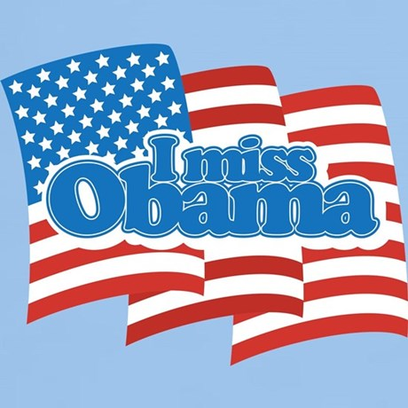 I Miss Obama with US Flag