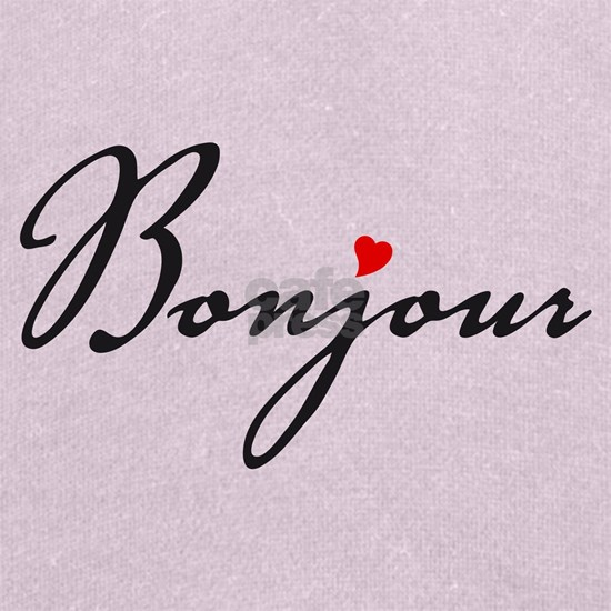 Bonjour with red heart