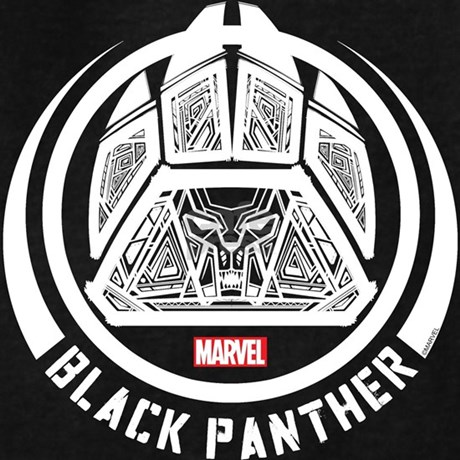 Black Panther Symbol Hoodie Dark By Blackpanthercomic
