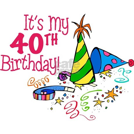 Its My 40th Birthday Party Hats Tile Coaster It39s