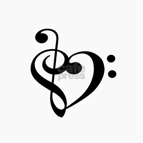 treble bass clef heart magnet by allico rh cafepress com treble bass heart clef treble bass heart tattoo