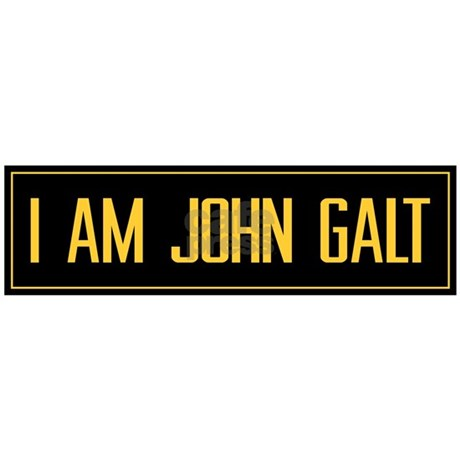 Quoti am john galtquot bumper sticker favorite