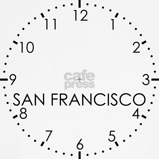 SAN FRANCISCO Newsroom Wall Clock