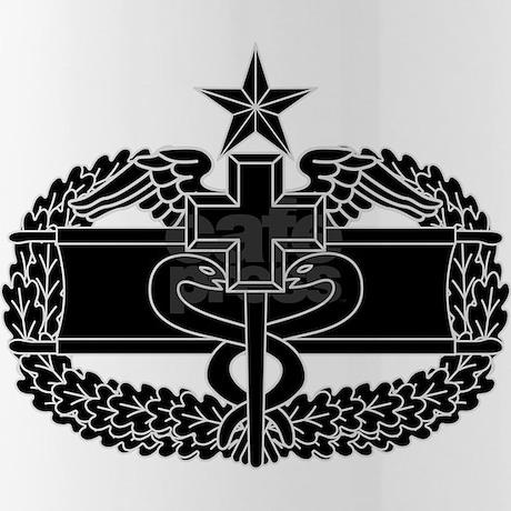 Combat Medical Badge 2nd Award B W Water Bottle By Gunbunny