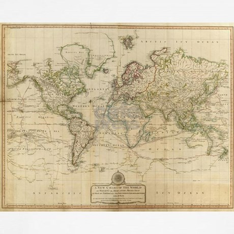 Vintage Map Of The World 1800 Boxer Shorts By Admin Cp17960464