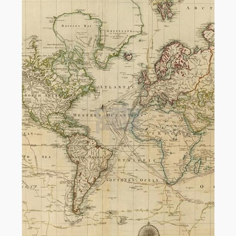Map Of The World In 1800.Vintage Map Of The World 1800 Flip Flops By Admin Cp17960464