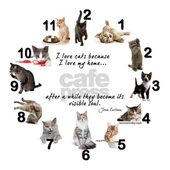 WALL CLOCK - Cat