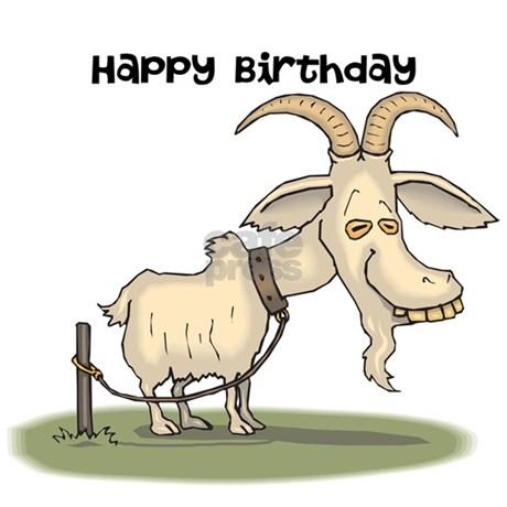 Happy birthday you old goat greeting card by chocolatehillsmall goat greeting card front front design bookmarktalkfo Image collections