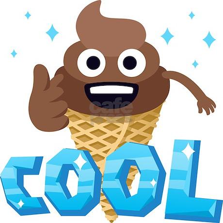 Emoji Poop Ice Cream Cool Button By Emojioneshop