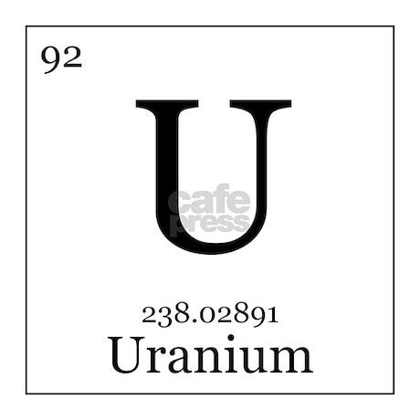 Elements 92 Uranium Tile Coaster By Alltherage