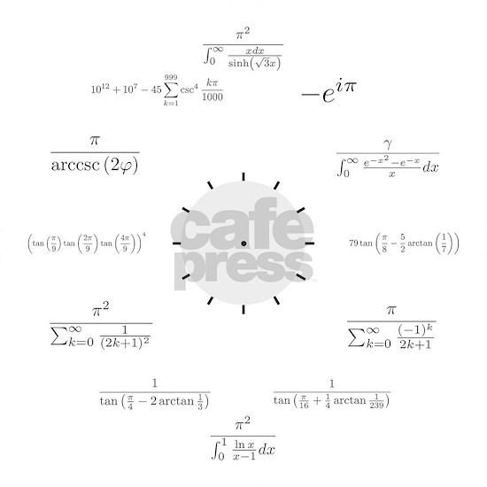 Math Clock (white background)