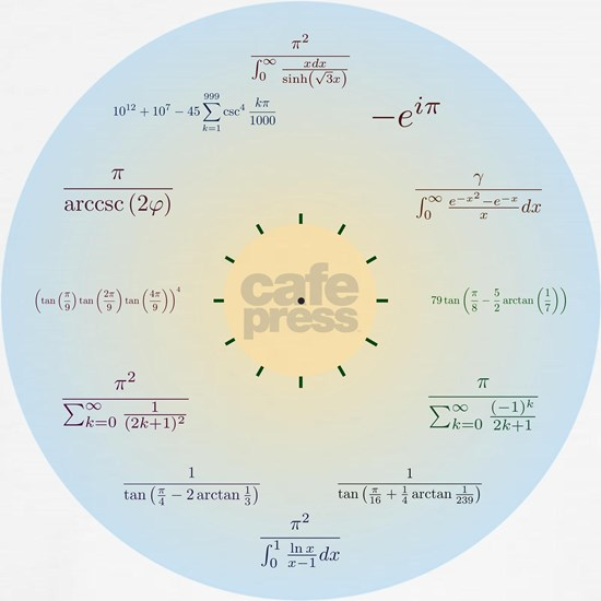 Math clock (blue gradient)