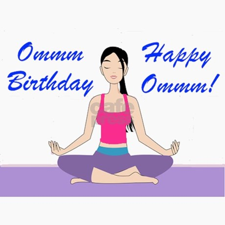 Yoga birthday card greeting cards pk of 10 by funasana front design bookmarktalkfo Image collections