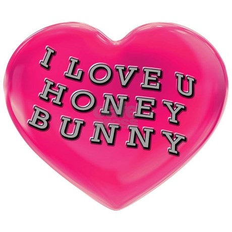 i love you honey bunny ornament round favorite