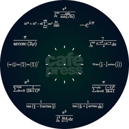 Math Clock (Dark Blue-Dark Green)