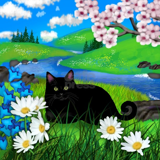Black cat spring river ceramic tile coater
