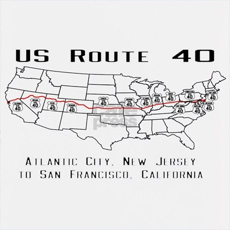 Map us route 40