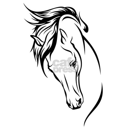 line drawn horse head aluminum license plate by petsblogs Aluminum Bumper Pull Horse Trailer favorite