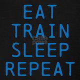 Eat sleep train repeat Tank Tops