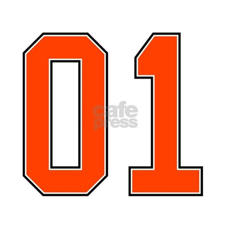 01 >> 01 General Lee Dukes Of Hazzard Car Number Decal By Listing Store