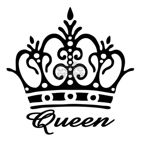 Queen Black Crown Tile Coaster By Artegrity