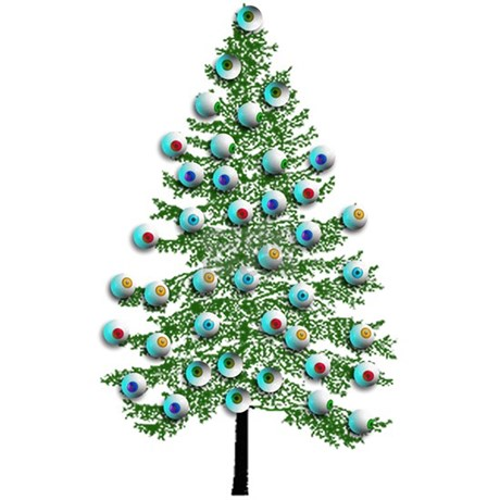 Eyeball Christmas Tree 20x12 Oval Wall Decal. Favorite