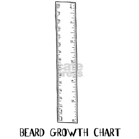 Beard Growth Chart Mug By Clevershop123
