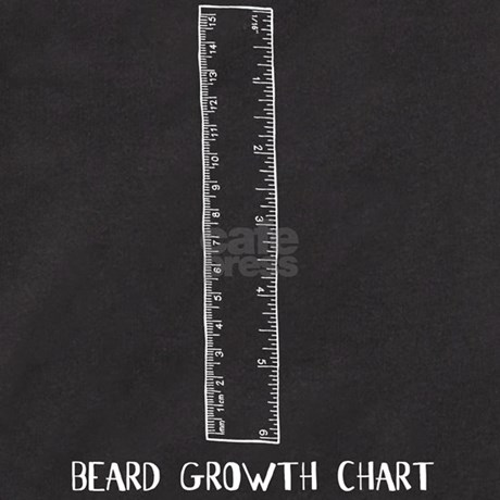 Beard Growth Chart T by clevershop123