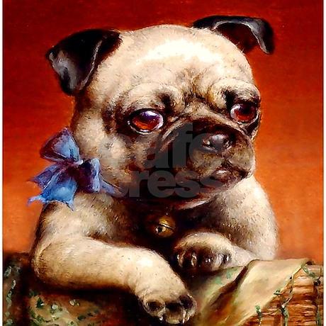 Bowtie Pug Puppy Shower Curtain