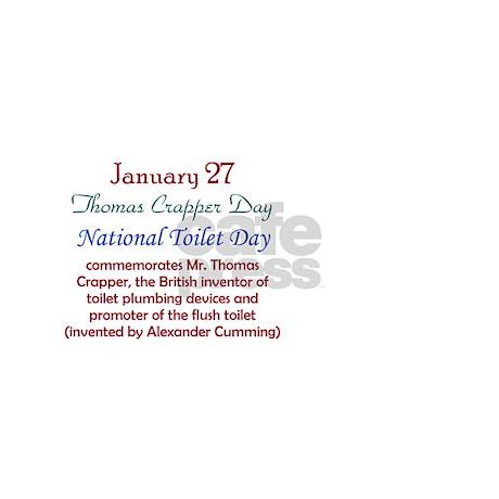 Mug: Thomas Crapper Day National Toilet Day commem by bornonthisday