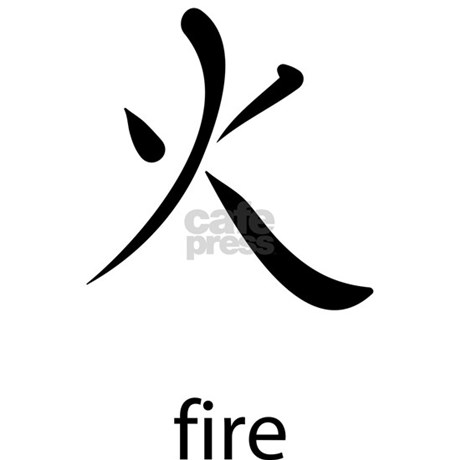 Japanese Kanji Symbol For Fire 3x5 Area Rug By Lamanca