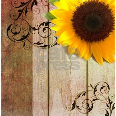 Sunflower Barnwood Country Shower Curtain Favorite